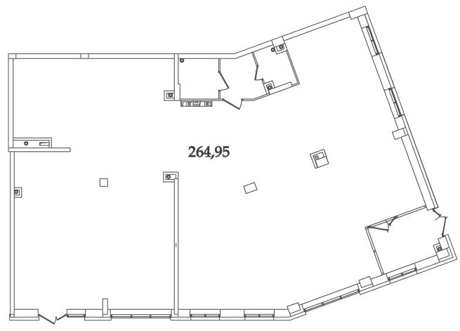Планировка Коммерческое помещение площадью 249.8 кв.м в ЖК «Avatar»